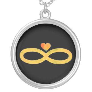 Infinito 3 del oro pendientes personalizados