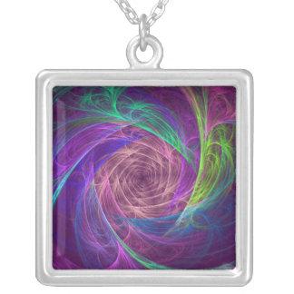 Infinito colorido con rosa y púrpura collar personalizado