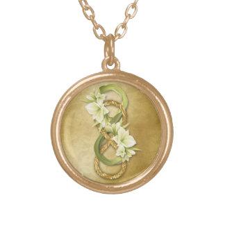 Infinito doble en el oro y Cowlilies - collar 1