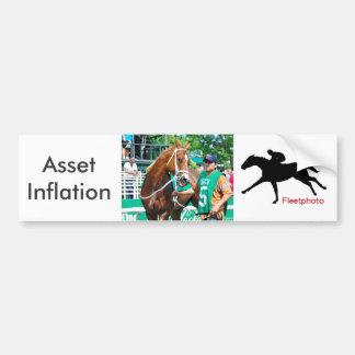 Inflación del activo pegatina para coche