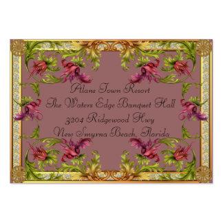 Información adicional de color de malva de la invi tarjeta de visita