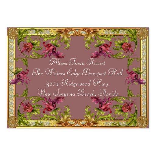 Información adicional de color de malva de la invi plantillas de tarjeta de negocio
