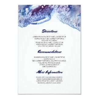 Información azul cristalina del boda de la invitación 8,9 x 12,7 cm