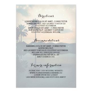 Información de detalles del boda de playa de la invitación 11,4 x 15,8 cm
