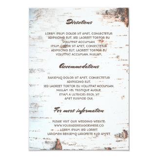 Información de detalles rústica del boda de la invitación 8,9 x 12,7 cm