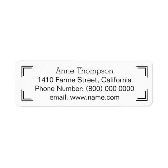 información de dirección limpia y clara etiqueta de remite