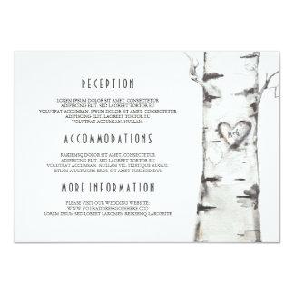 Información rústica del boda de la acuarela del invitación 11,4 x 15,8 cm