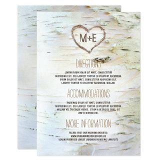 Información rústica del boda del corazón de la invitación 11,4 x 15,8 cm