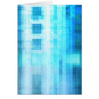 Informática futurista del Internet de la ciencia Tarjeta Pequeña