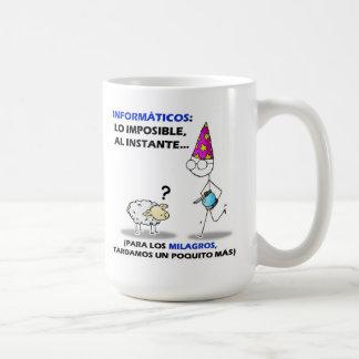 informáticos: lo imposible, instante del al…. taza de café