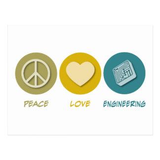Ingeniería del amor de la paz postal