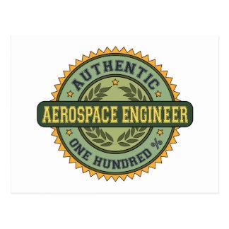 Ingeniero aeroespacial auténtico postal