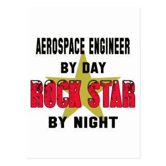 Ingeniero aeroespacial por el día rockstar por postal