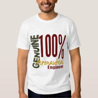 Ingeniero aeronáutico auténtico camisetas