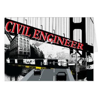 Ingeniero civil tarjeta de felicitación