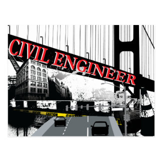 Ingeniero civil tarjeta postal