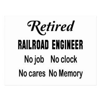 Ingeniero de ferrocarril jubilado ningún trabajo postal