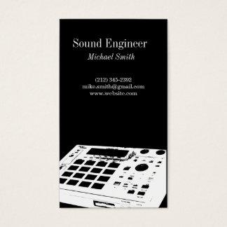 Ingeniero de sonido tarjeta de negocios