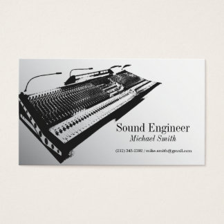Ingeniero de sonido tarjeta de visita