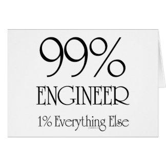 Ingeniero del 99% tarjeta de felicitación