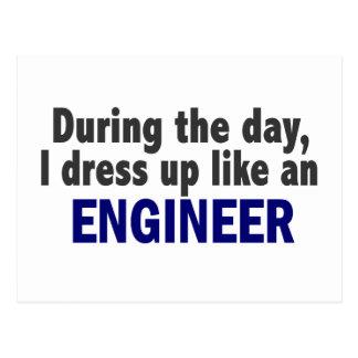 Ingeniero durante el día postal