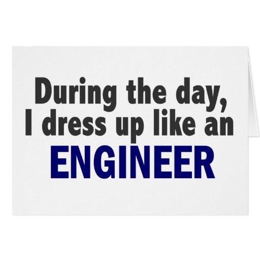 Ingeniero durante el día tarjetón