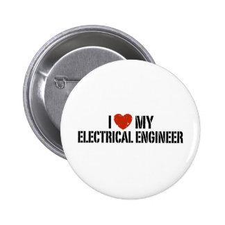 Ingeniero eléctrico chapa redonda de 5 cm