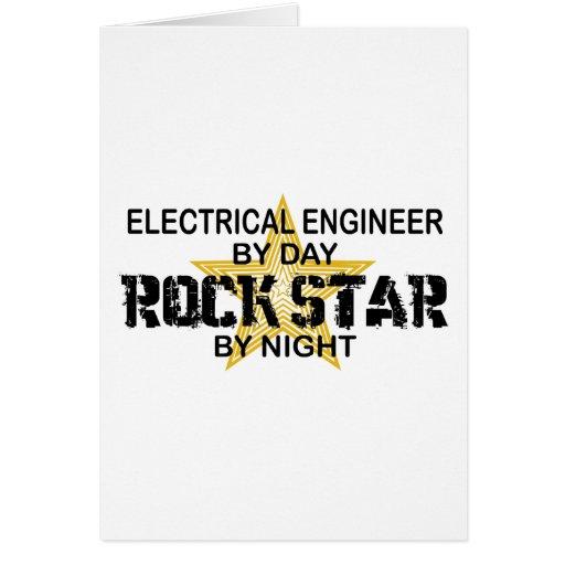Ingeniero eléctrico de la estrella del rock tarjetón