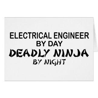 Ingeniero eléctrico Ninja mortal Tarjeta De Felicitación