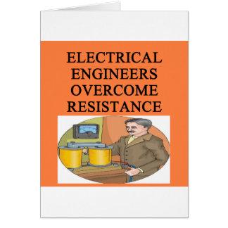 ingeniero eléctrico tarjeta de felicitación