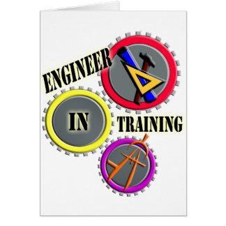 Ingeniero en el entrenamiento tarjeta de felicitación