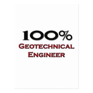 Ingeniero geotécnico del 100 por ciento postal