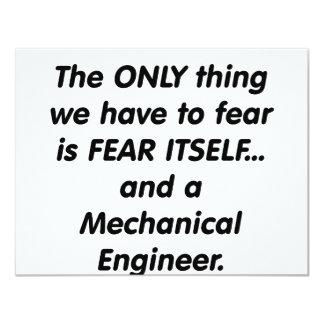 ingeniero industrial del miedo invitación 10,8 x 13,9 cm