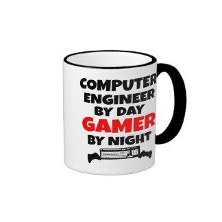 Ingeniero informático del videojugador taza a dos colores