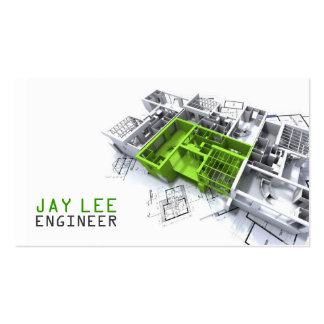 Ingeniero, ingeniería, arquitecto, constructor tarjeta de negocio