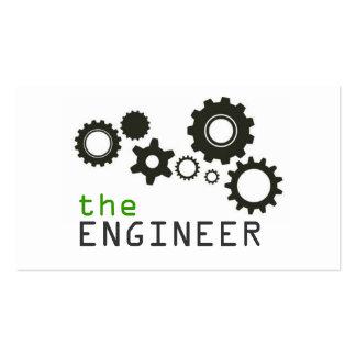 Ingeniero, ingeniería, arquitecto, constructor tarjetas de visita