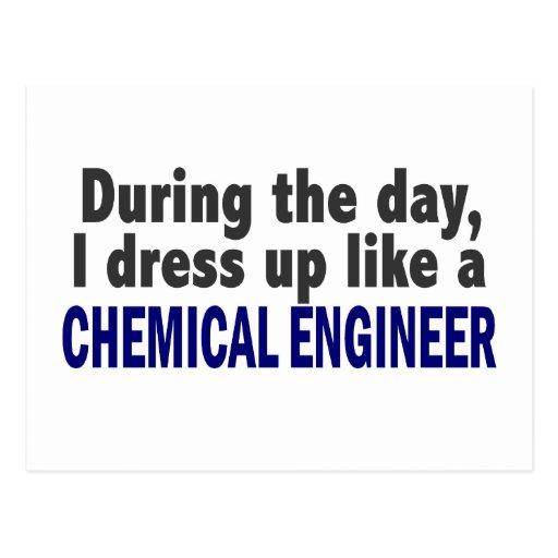 Ingeniero químico durante el día tarjeta postal