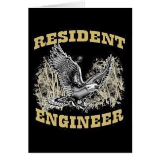 Ingeniero residente tarjeta de felicitación