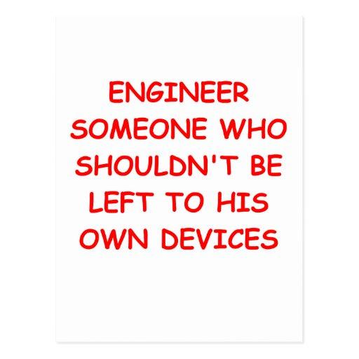 ingeniero tarjetas postales