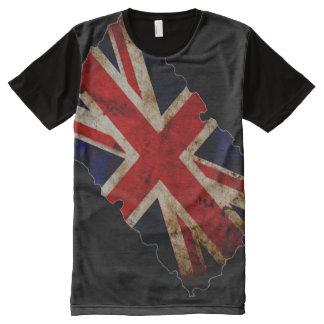 Inglaterra 100% dentro de la bandera del mundo camiseta con estampado integral