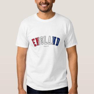 Inglaterra en colores de la bandera nacional camisetas