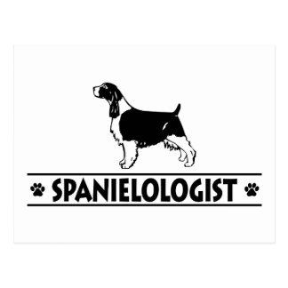 Inglés chistoso cocker spaniel postal