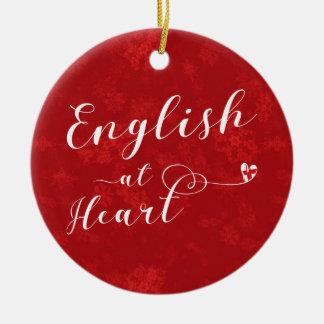 Inglés en el corazón, ornamento del árbol de