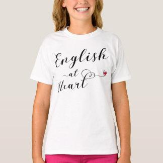 Inglés en la camiseta del corazón, Inglaterra