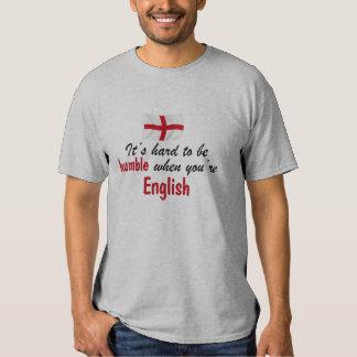 Inglés humilde camisetas