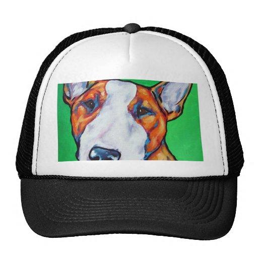 Inglés rojo/blanco bull terrier gorro