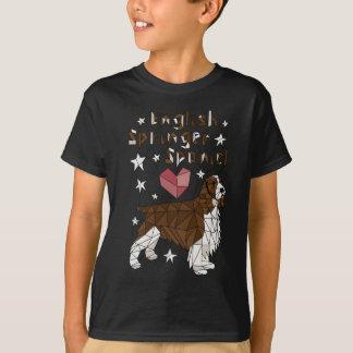 inglés-saltador-perro de camiseta
