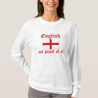 ¡Inglés y orgulloso de él! Camiseta