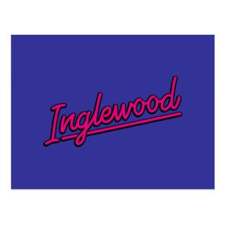 Inglewood en magenta postal