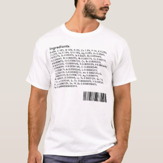 Ingredientes del cuerpo humano: Tabla periódica Camiseta